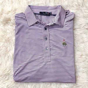 RLX Ralph Lauren Pink Striped Golf Polo Shirt